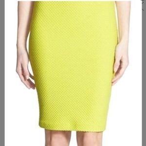 High waisted LIME green pencil skirt